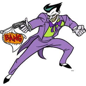 The and harley quinn. 1992 animated joker clipart