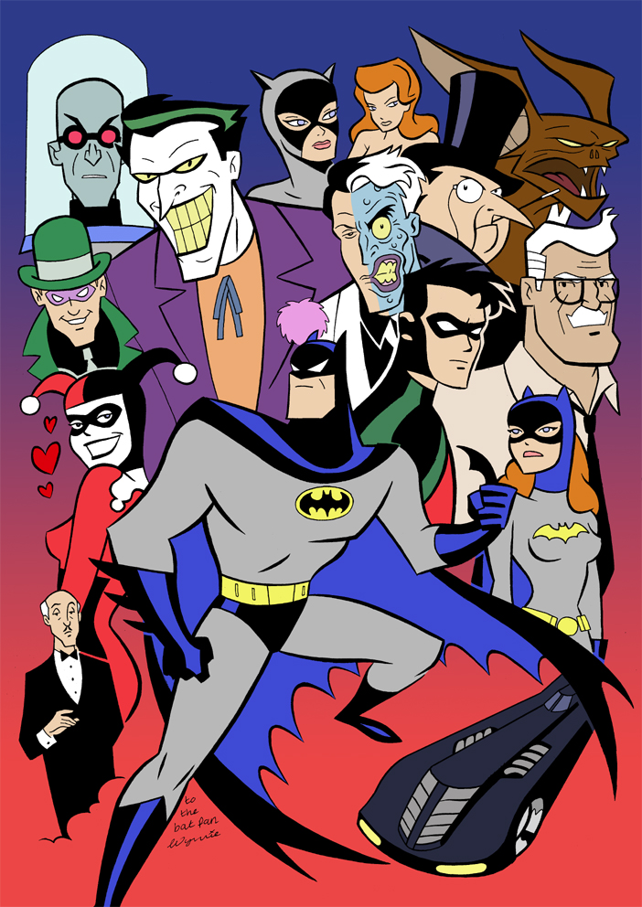 Batman commission col by. 1992 animated joker clipart