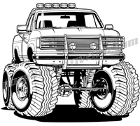 1994 ford f150 clipart transparent Ford, Chevy, Dodge, lifted, 4x4 off road and custom pickup truck ... transparent