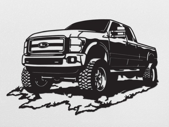1994 ford f150 clipart image download Ford F350 Metal Wall Art | Products | Metal wall art, Art, Metal art image download