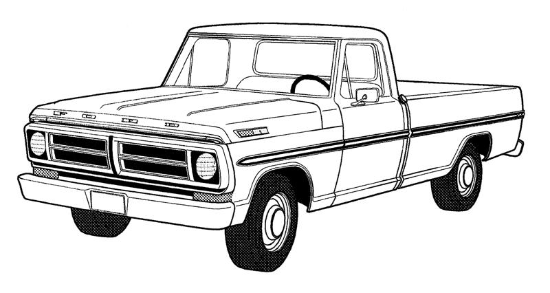 1994 ford f150 clipart picture transparent stock Ford Truck Clipart & Free Clip Art Images #3725 - Clipartimage.com picture transparent stock