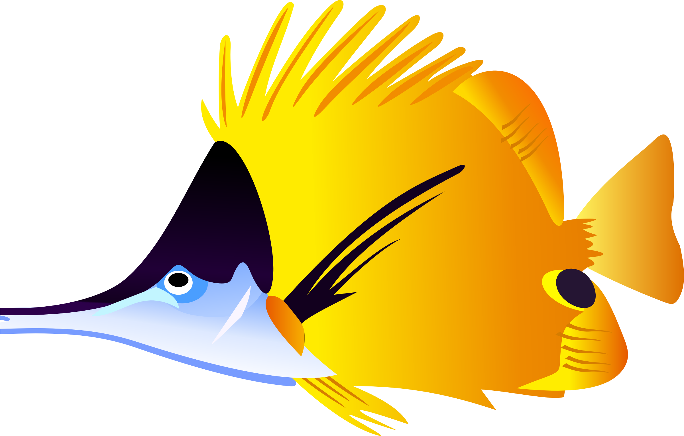 Yellow fish background clipart clip transparent library Saltwater Fish Clipart at GetDrawings.com | Free for personal use ... clip transparent library