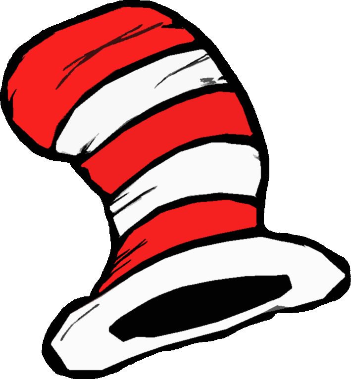 Cat in the hat outline clipart graphic freeuse stock Dr. Suess cut outs | dr seuss literacy math centers unit last night ... graphic freeuse stock