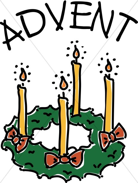 Advent candle clipart religious graphic royalty free First Sunday In Black And White Clipart - Free Clipart graphic royalty free