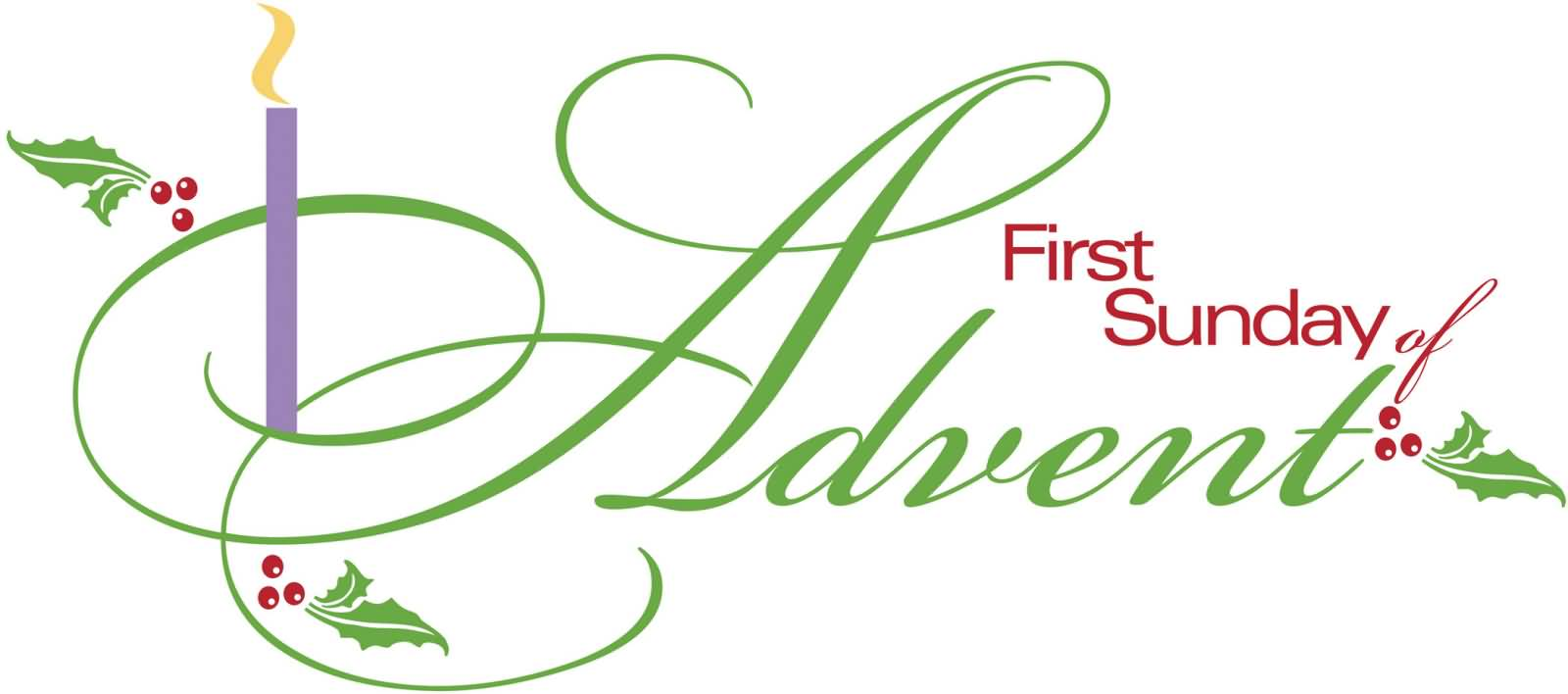 First sunday of advent 2017 clipart clip royalty free First Sunday In Black And White Clipart - Free Clipart clip royalty free