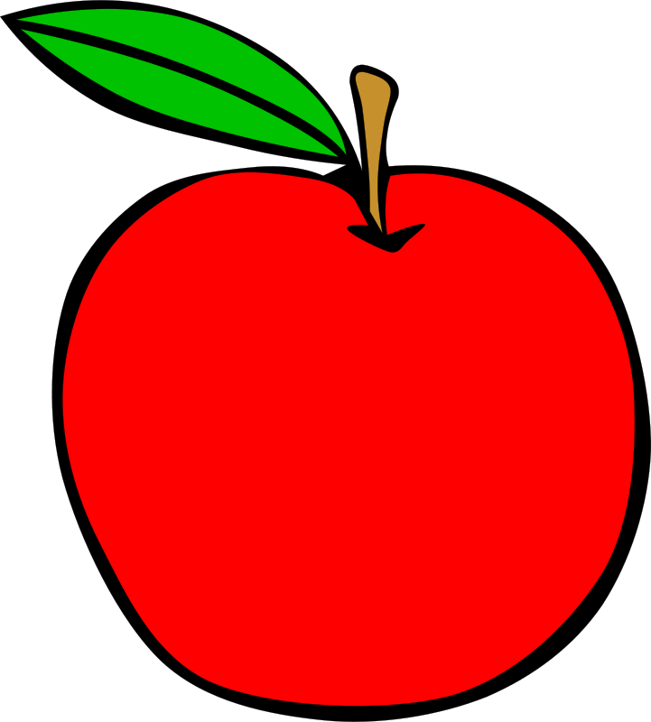 Colored apple silhouette clipart image download Simple Fruit Apple by Gerald_G - apple, clip art, clipart, food ... image download