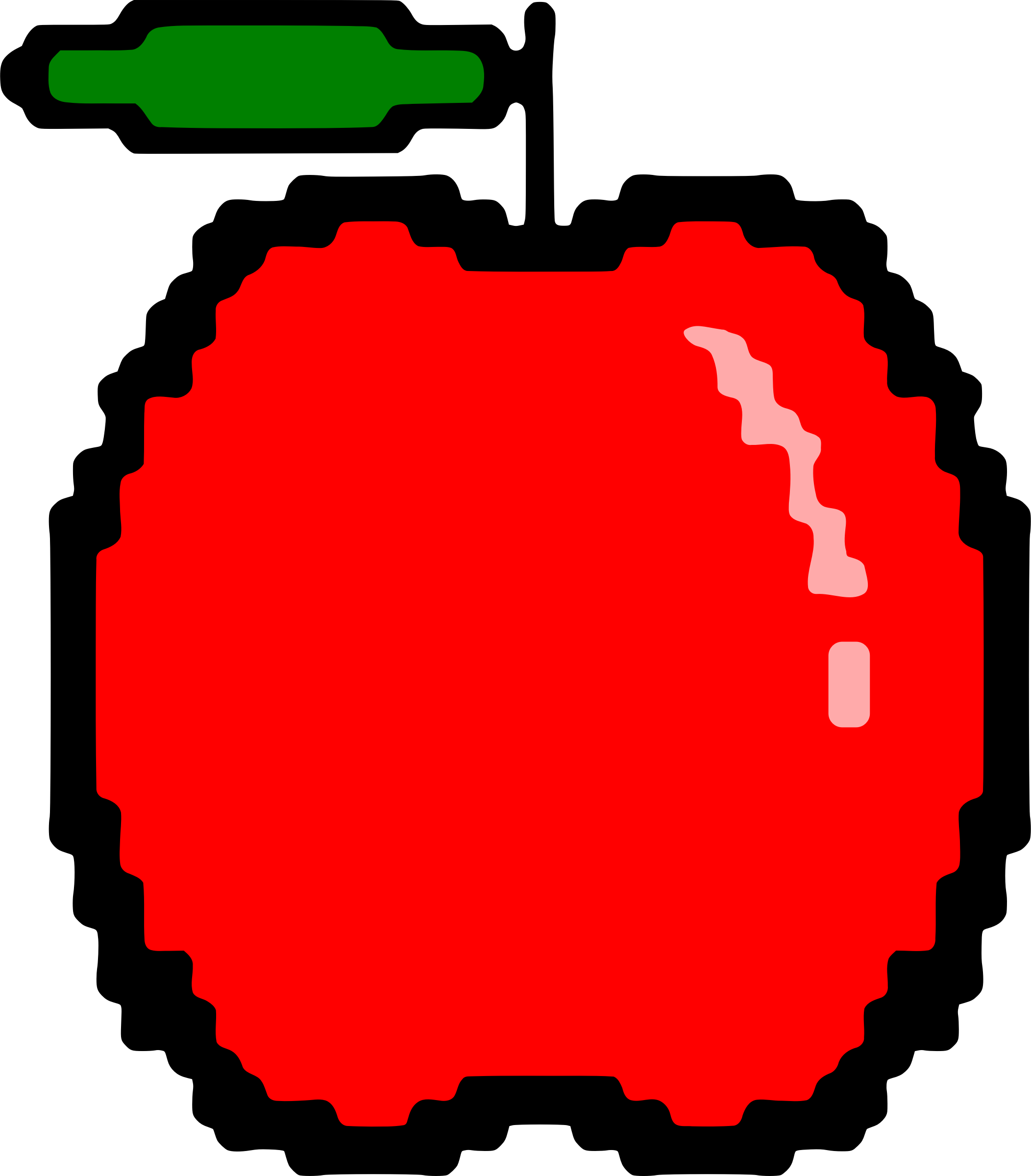 1st apple clipart vector library Clipart - Simple red apple vector library