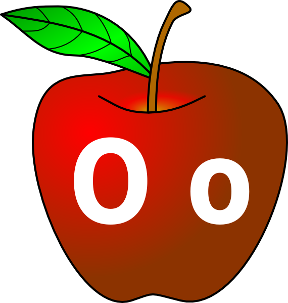 Angry apple clipart