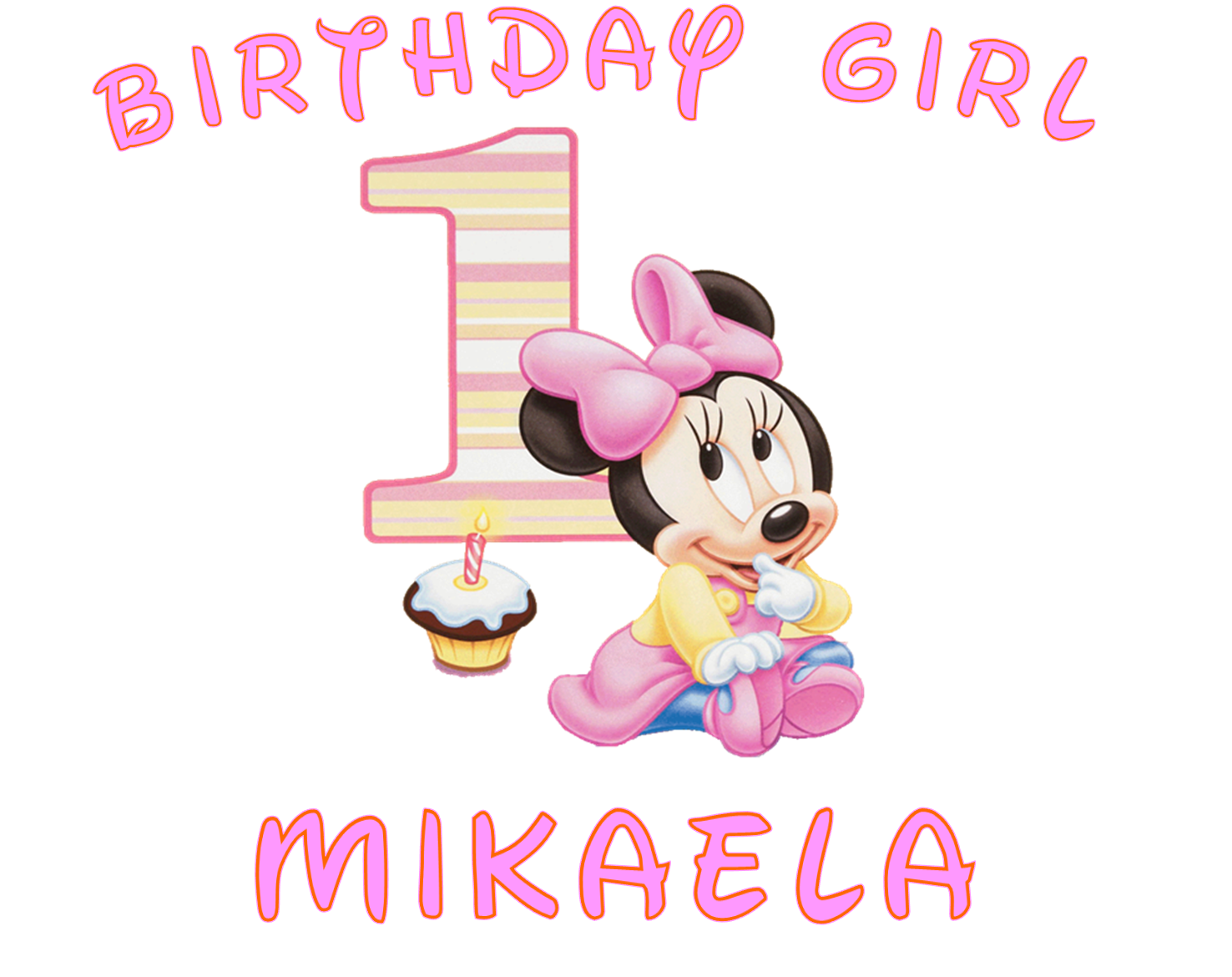 First birthday clipart images picture free 17 Best images about •.‿✿⁀ MINNIE BEBE•.‿✿⁀ on Pinterest | Clip ... picture free