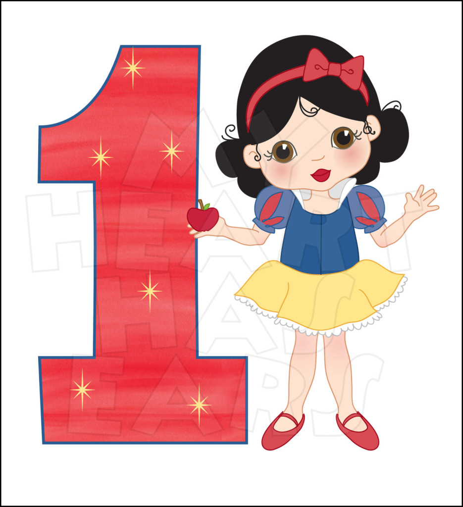 1st birthday boy red clipart picture transparent library Little Snow White 1st Birthday INSTANT DOWNLOAD digital clip art ... picture transparent library