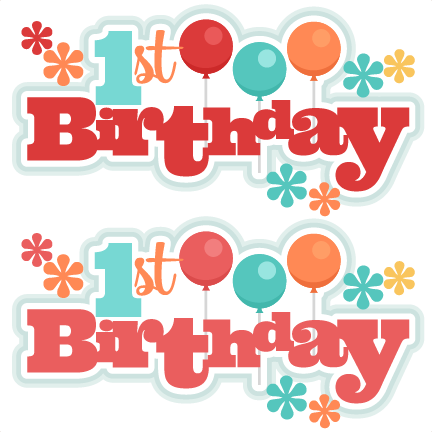 1st birthday boy red clipart.  st clipartfest titles