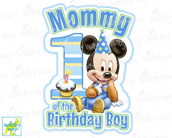 1st birthday boy red clipart svg freeuse download Mickey 1st Birthday MOMMY Printable Iron On by TheWallabyWay svg freeuse download