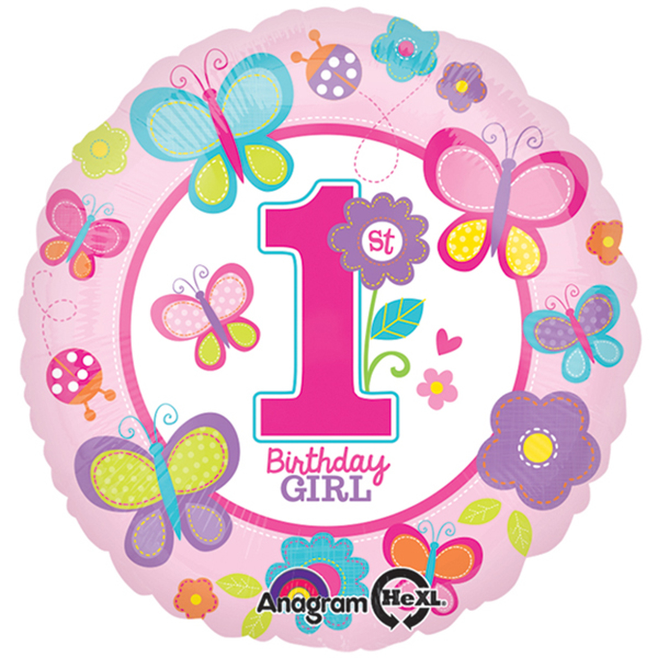 1st birthday butterfly clipart graphic freeuse library Butterfly 1st Birthday Foil Balloon graphic freeuse library