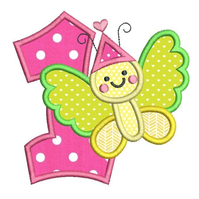 1st birthday butterfly clipart vector free 1st Birthday Butterfly (FA510-51) vector free