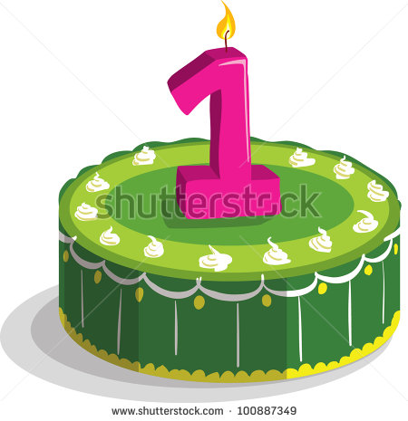 1st birthday cake clipart.  st stock images