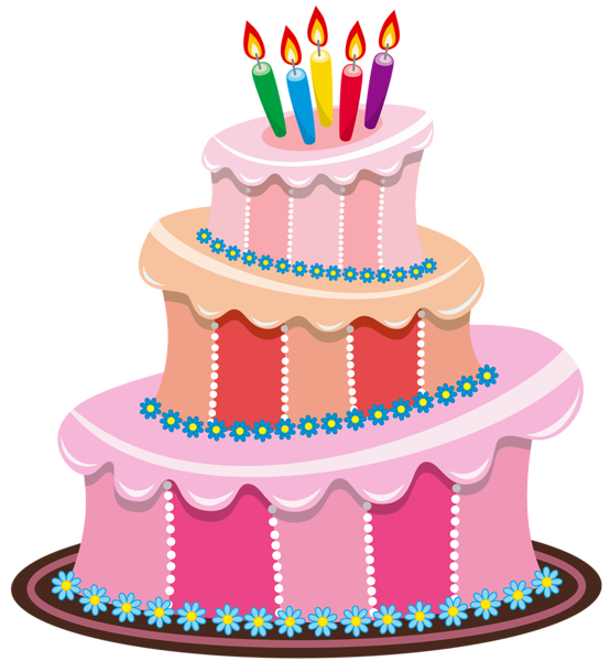 Birthday cake free clipart. Cute gallery picture cakes