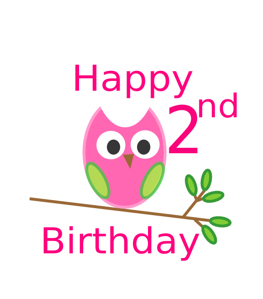 1st birthday girl clipart picture freeuse stock Owl 1st Birthday Clip Art at Clker.com - vector clip art online ... picture freeuse stock