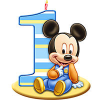 1st birthday clipart. Baby mickey mouse st