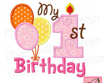 1st birthday clipart. Happy st girl clipartfest