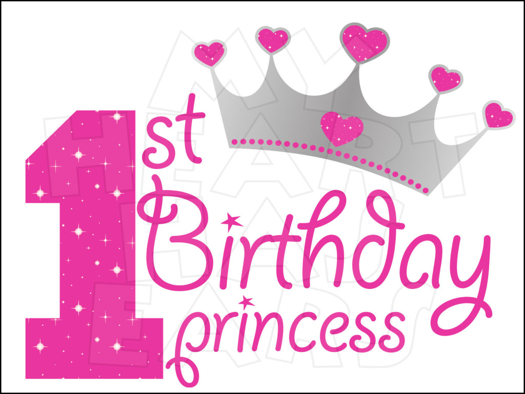 1st birthday clipart. First kid st princess