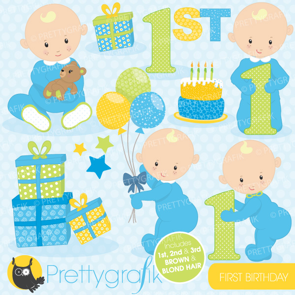Baby boy 1st birthday clipart - ClipartFest picture library
