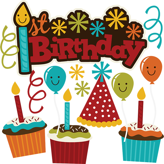 st svg scrapbook. 1st birthday clipart boy