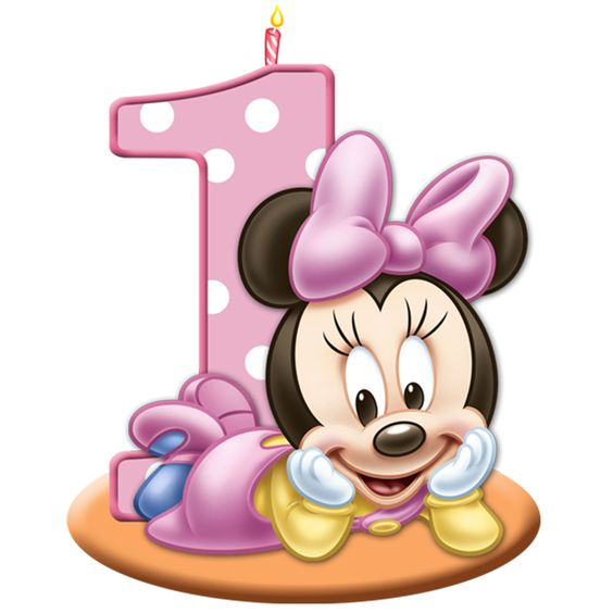 Baby minnie mouse st. 1st birthday clipart girl
