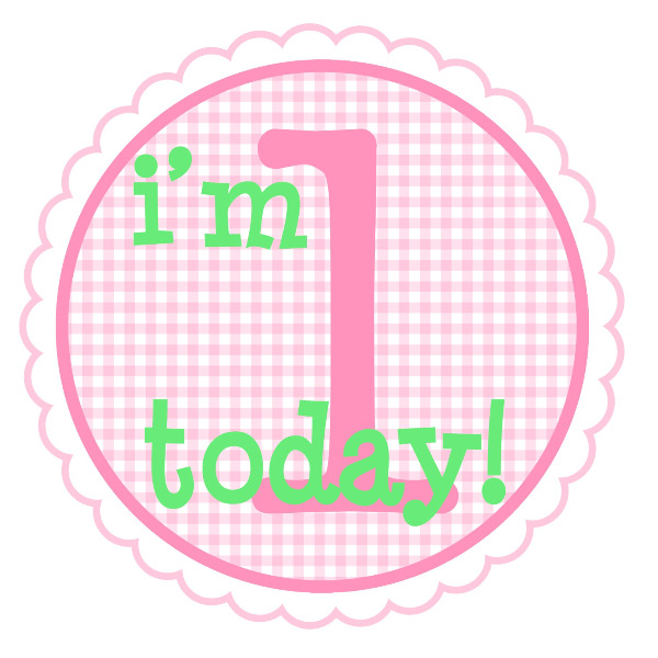 1st birthday clipart girl.  st clipartfest personalized
