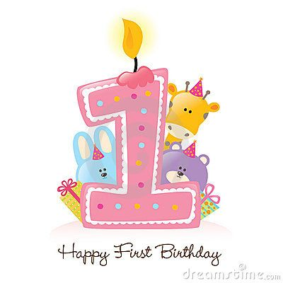 1st birthday clipart girl. Happy st clip art