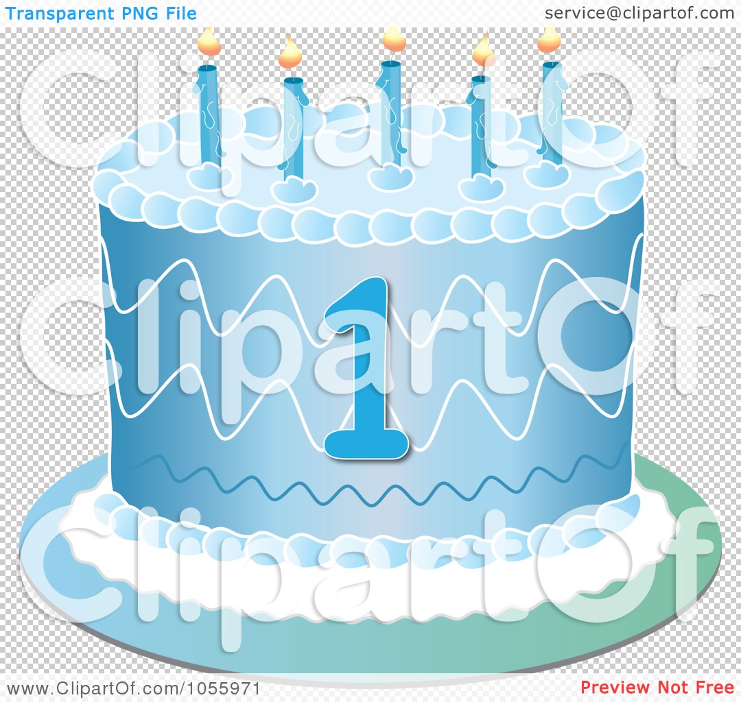 1st birthday clipart no background vector freeuse library Royalty-Free Vector Clip Art Illustration of a Blue First Birthday ... vector freeuse library