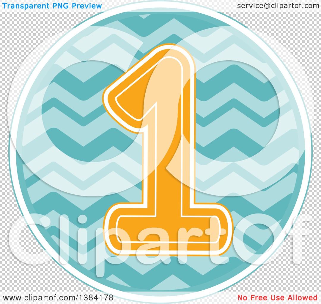 1st birthday clipart no background banner black and white stock Clipart of a First Birthday Badge with a Number 1 over Waves ... banner black and white stock