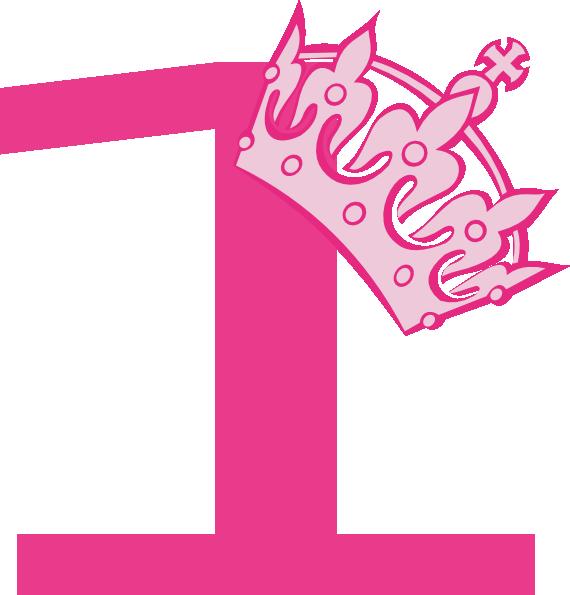1st birthday crown girl clipart