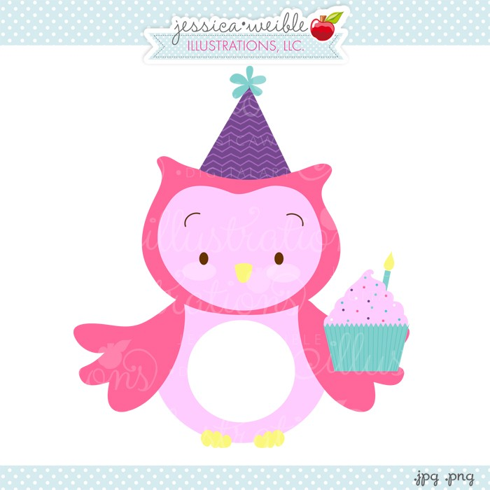 1st birthday cupcake clipart.  st clipartfest owl