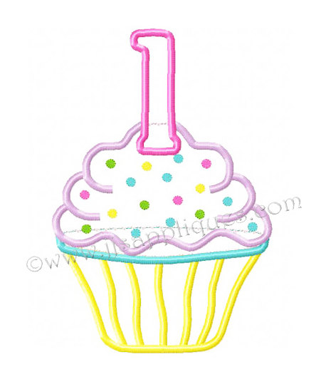 First clipartfest st . 1st birthday cupcake clipart