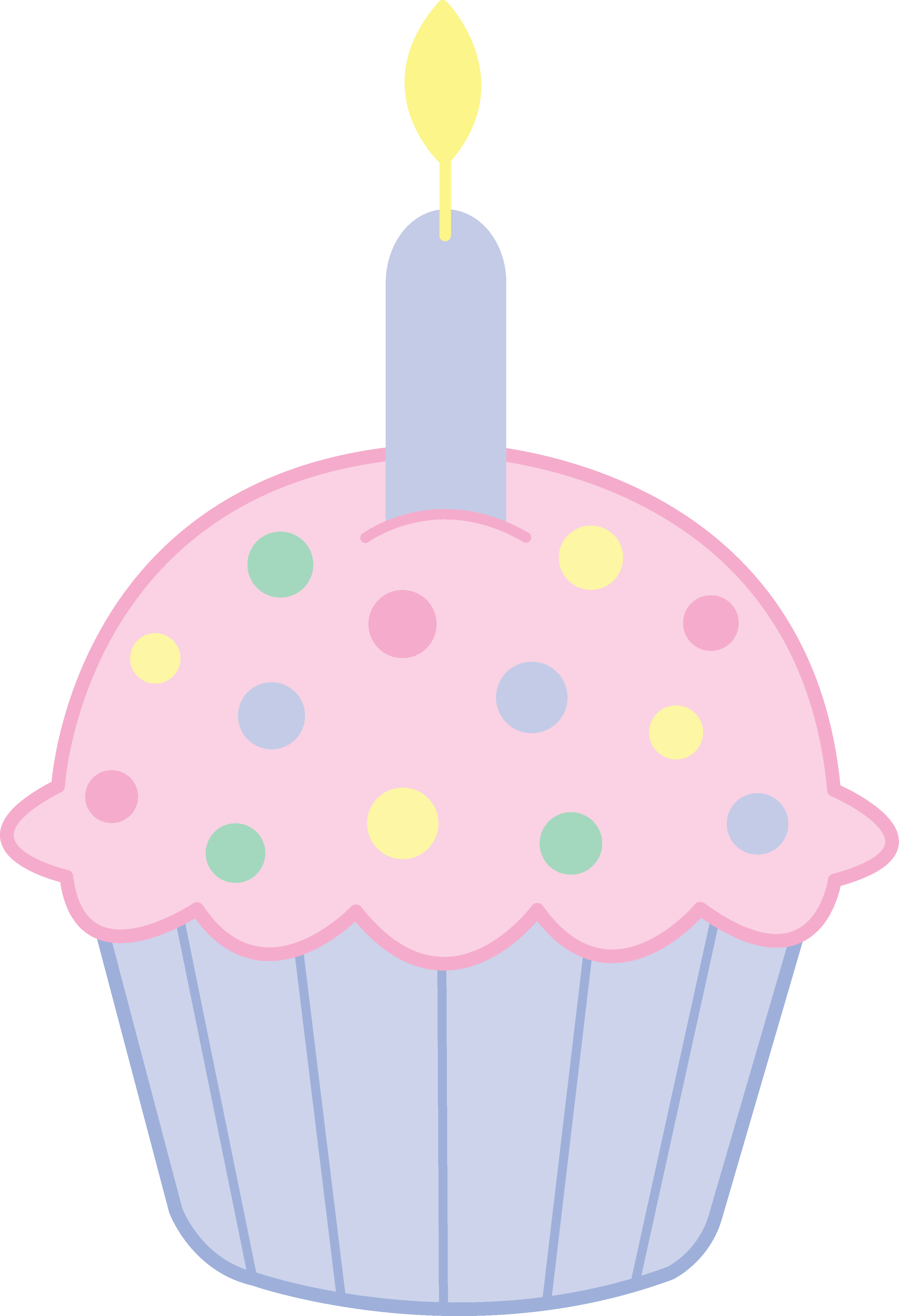 Cute Pink Birthday Cupcake - Free Clip Art clip art freeuse download