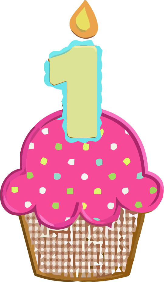 1st birthday girl clipart vector download 1st Birthday Cupcake Clipart Picture | Clipartly.com vector download