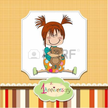 1st birthday girl clipart image royalty free download 2,365 First Birthday Stock Vector Illustration And Royalty Free ... image royalty free download