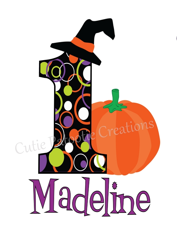 1st birthday pumpkin clipart transparent library Personalized 1st First Birthday Halloween Pumpkin TShirt or Onesie transparent library