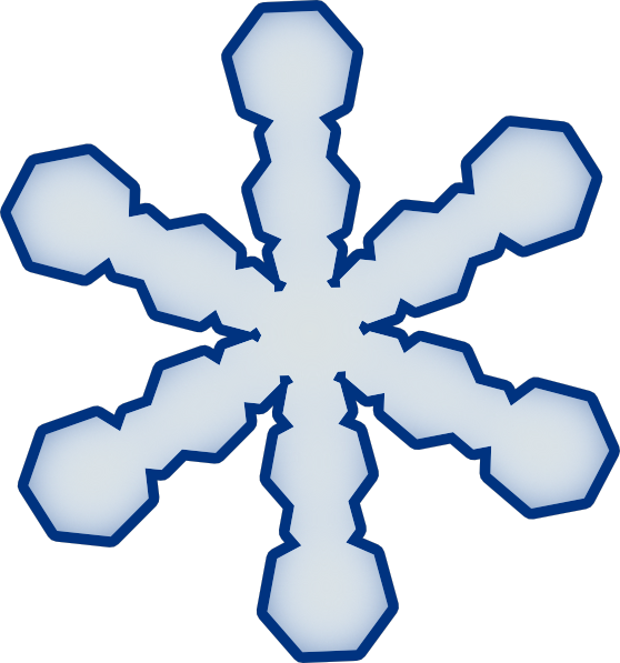 Blue snowflake outline clipart svg free stock Snowflake Clipart | Simple Snowflake clip art - vector clip art ... svg free stock