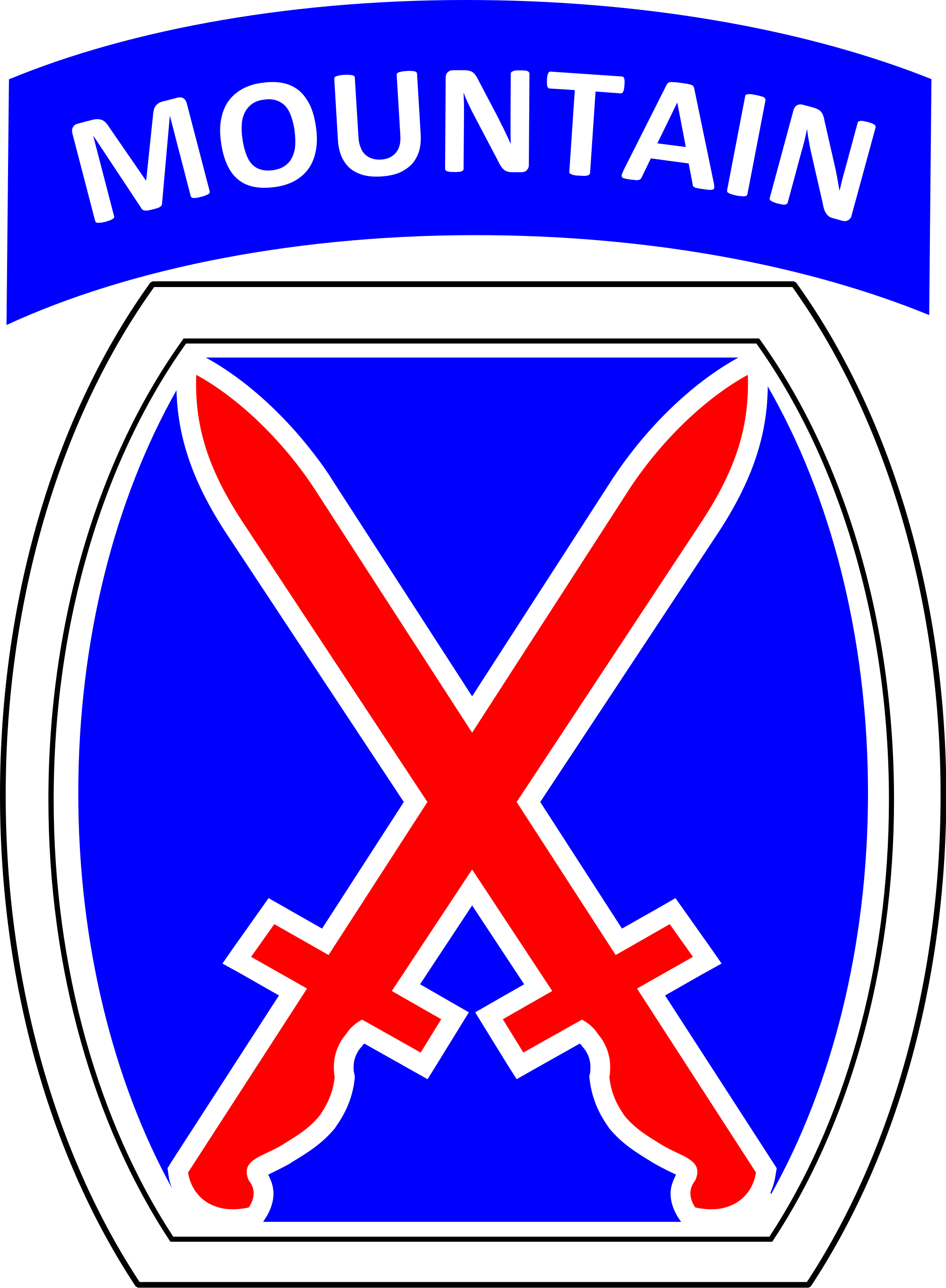 1st cavalry cross clipart png library library 2nd Brigade Combat Team, 10th Mountain Division (United States ... png library library