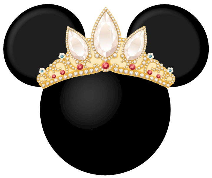 Minnie mouse heads bebes. Crown mickey clipart
