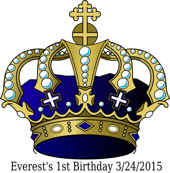 1st crown clipart vector free download Birthday, Crown, Blue Clip Art at Clker.com - vector clip art online ... vector free download