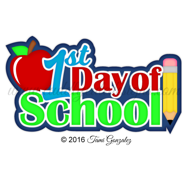 School picture day clipart transparent download 1st Day of School transparent download