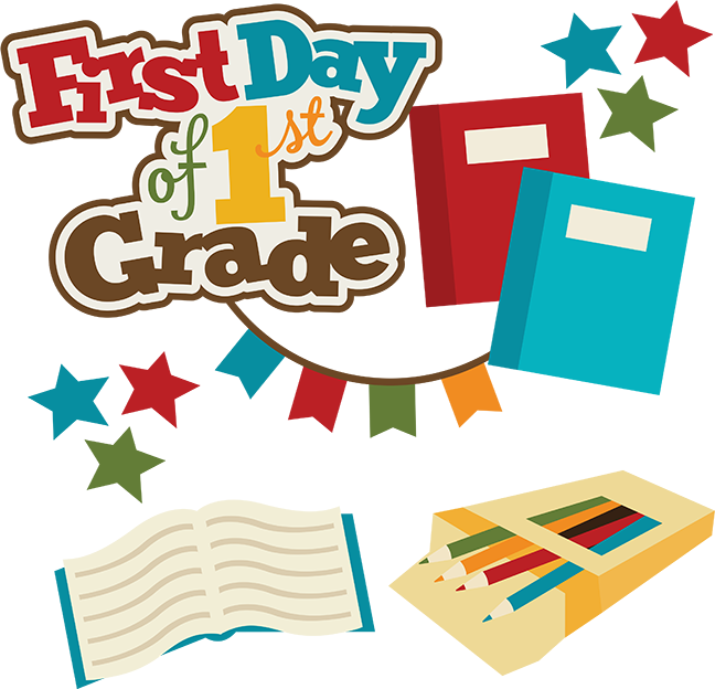 First day of school clipart clipart free stock First Day Of 1st Grade SVG school svg files for scrapbooking free ... clipart free stock