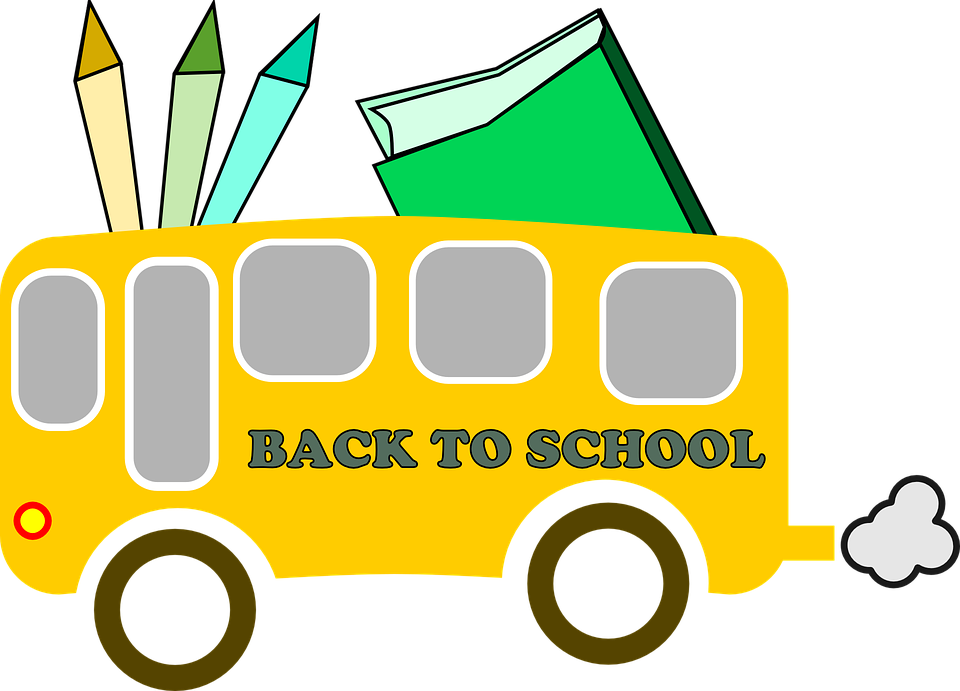 Elementary school clipart. First day of
