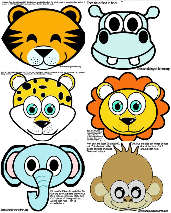 1st jungle animal birthday clipart clip free Safari / Jungle Themed First Birthday Party - Animals Party Masks ... clip free