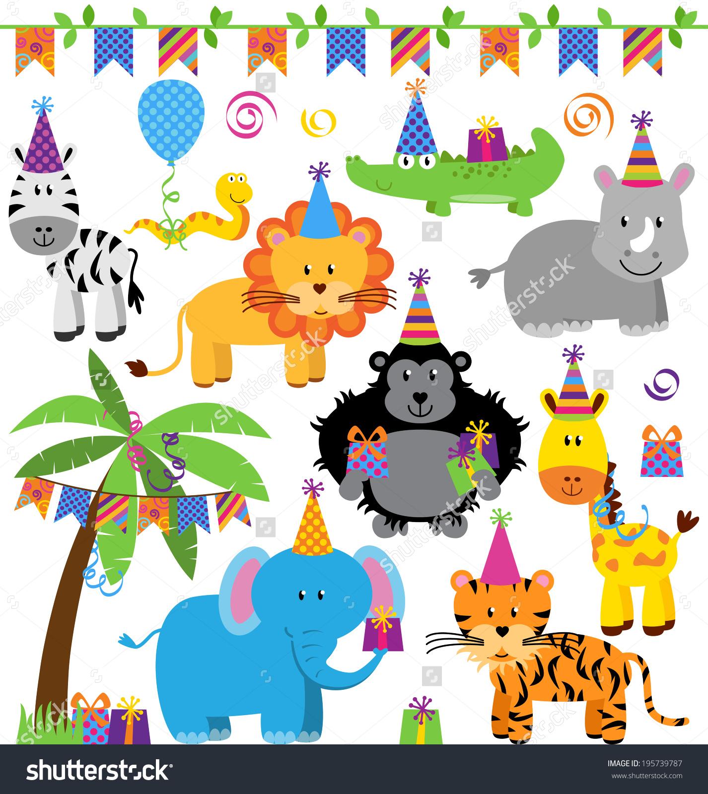 1st jungle animal birthday clipart freeuse stock 1st jungle animal birthday clipart - ClipartFest freeuse stock