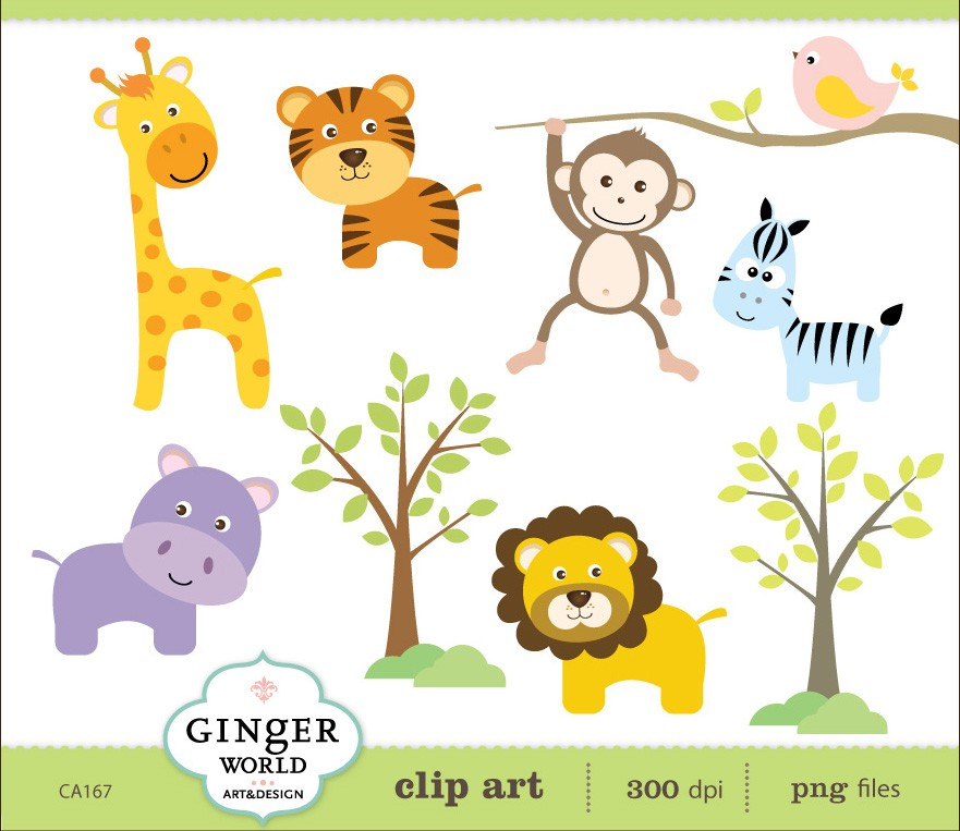 1st jungle animal birthday clipart banner download Clipart jungle animal lion - ClipartFest banner download