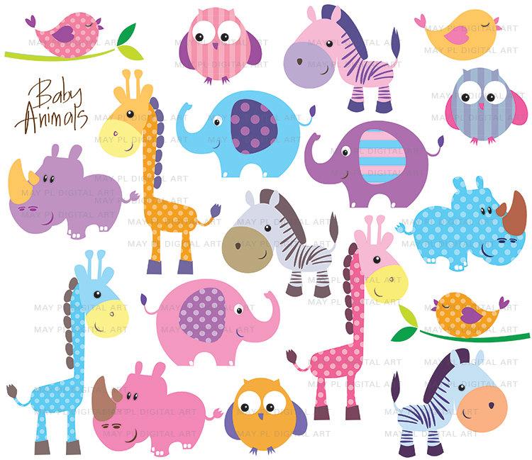 1st jungle animal birthday clipart jpg library download Jungle Animal Silhouette Clipart - Clipart Kid jpg library download