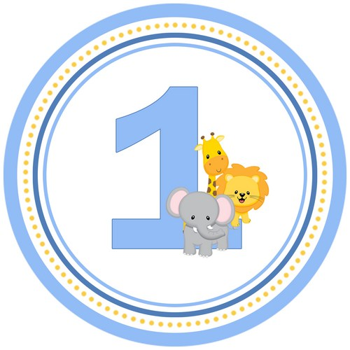 1st jungle animal birthday clipart.  st clipartfest ilxn